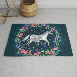 Mama and Baby Unicorn Rug