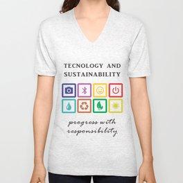 Technology and sustainability Unisex V-Neck
