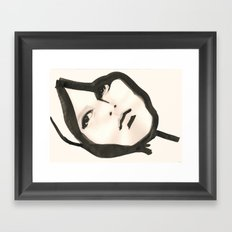 Ink face Framed Art Print
