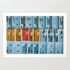 the primary colors  Art Print