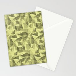 Abstract Geometrical Triangle Patterns 3 VA Lime Green - Lime Mousse - Bright Cactus Green - Celery Stationery Cards