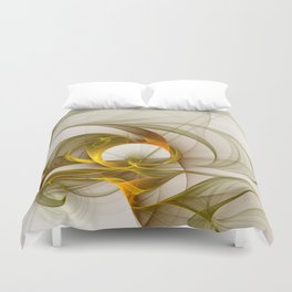 Fractal Art Precious Metals, Abstract Graphic Duvet Cover