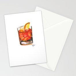 Negroni Cocktail Hour Stationery Cards