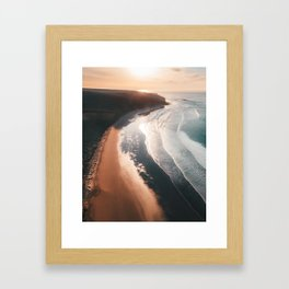 Bells Beach at sunrise Framed Art Print