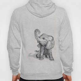 tiny elephant sitting in the corner Hoody