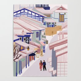 Old Town Kyoto Poster
