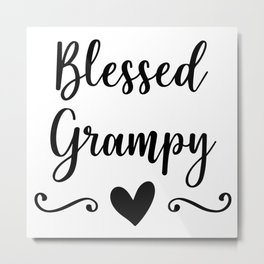 Blessed Grampy Metal Print