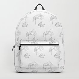 UNRAVEL YOURSELF repeated pattern Backpack
