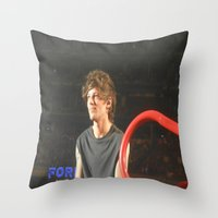 louis tomlinson Throw Pillows featuring Louis Tomlinson by Halle