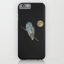 Owl, See the Moon (Barred Owl) iPhone Case