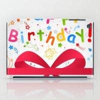 birthday iPad Cases featuring Birthday by aleksander1