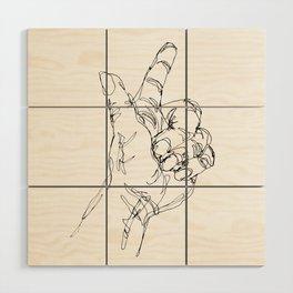 Ink doodle hand #3 Wood Wall Art