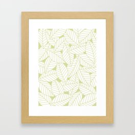 Leaves in Fern Framed Art Print