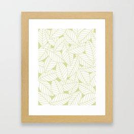 Leaves in Fern Framed Art Print
