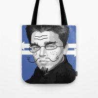 leonardo Tote Bags featuring Leonardo DiCaprio by Pazu Cheng