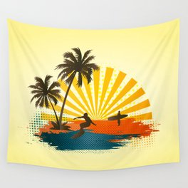 Surfers Wall Tapestry
