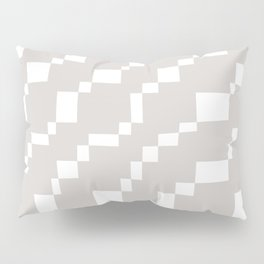 Rectangles 2 | Pattern in Pale Stone and White Pillow Sham