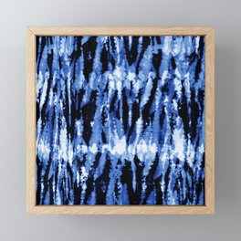 Blue Shibori Z Framed Mini Art Print