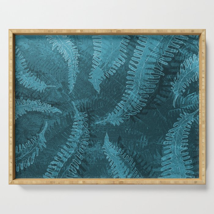 Ferns (light) abstract design Serving Tray