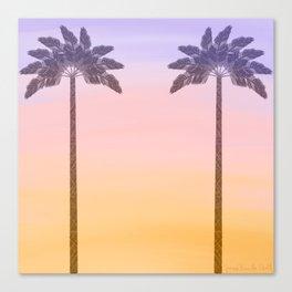 Palm Tree Sunrise  Canvas Print