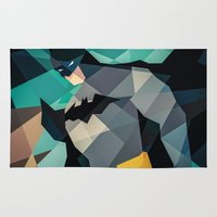 dc comics Area & Throw Rugs featuring DC Comics Superhero by Eric Dufresne