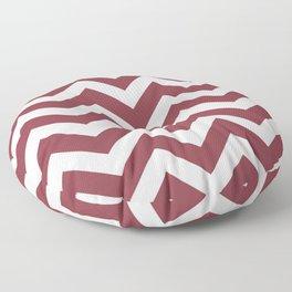 Solid pink - violet color - Zigzag Chevron Pattern Floor Pillow