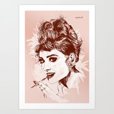 Love for Audrey Art Print