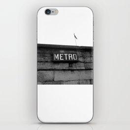 Paris Metro iPhone Skin