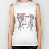bowie Biker Tanks featuring Bowie by S. L. Fina