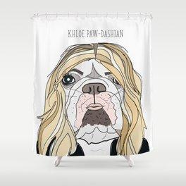 Celebrity Dogs-Khloe Pawdashian Shower Curtain