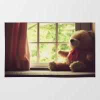 teddy bear Area & Throw Rugs featuring Teddy Bear by MariBee