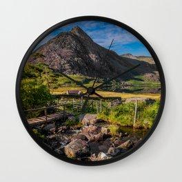 Tryfan Mountain Valley Wall Clock