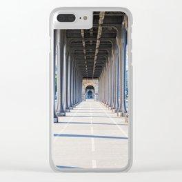 France, Bridge Bir Hakeim, Paris Clear iPhone Case
