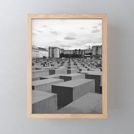Berlin Jewish Memorial - Black & White Framed Mini Art Print
