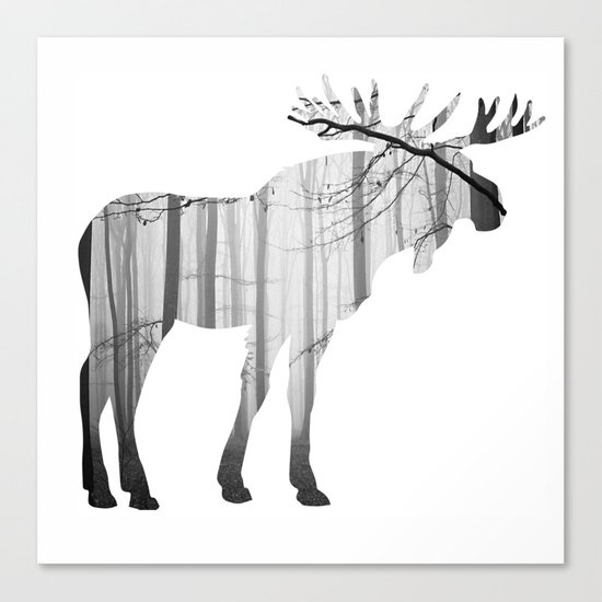 Forest Moose Canvas Print