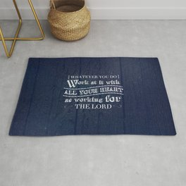 Work with All Your Heart - Colossians 3:23 Rug