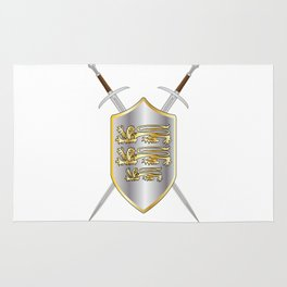Crossed Swords and Shield Rug