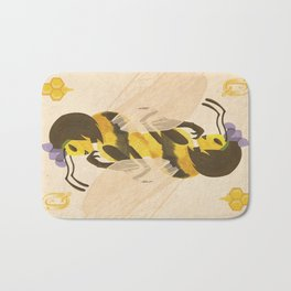 Print: Queen (Bee) of Clubs Bath Mat