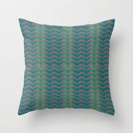 Tribal Green Throw Pillow