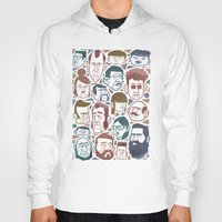 faces Hoodies featuring Faces by Lawerta