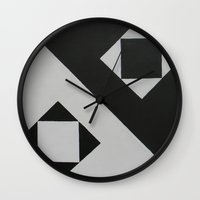 ying yang Wall Clocks featuring Ying & Yang by Guilherme Poletti