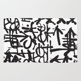 Graffiti Pattern Rug