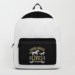 Horse - Fjord Horse Lives Matter Backpack