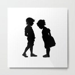 The children play to doctors Metal Print