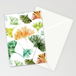 Gingko Leaves Stationery Cards