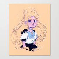 sailor moon Canvas Prints featuring Sailor Moon by Natali Koromoto