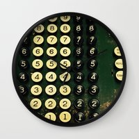 numbers Wall Clocks featuring Numbers by Hazel Bellhop