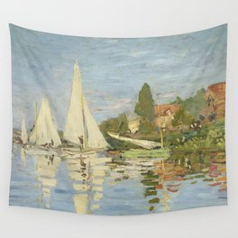 Regattas at Argenteuil by Claude Monet Wall Tapestry