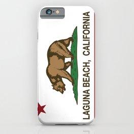 California Flag Laguna Beach iPhone Case