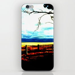 Storm clouds over wheat Fields iPhone Skin